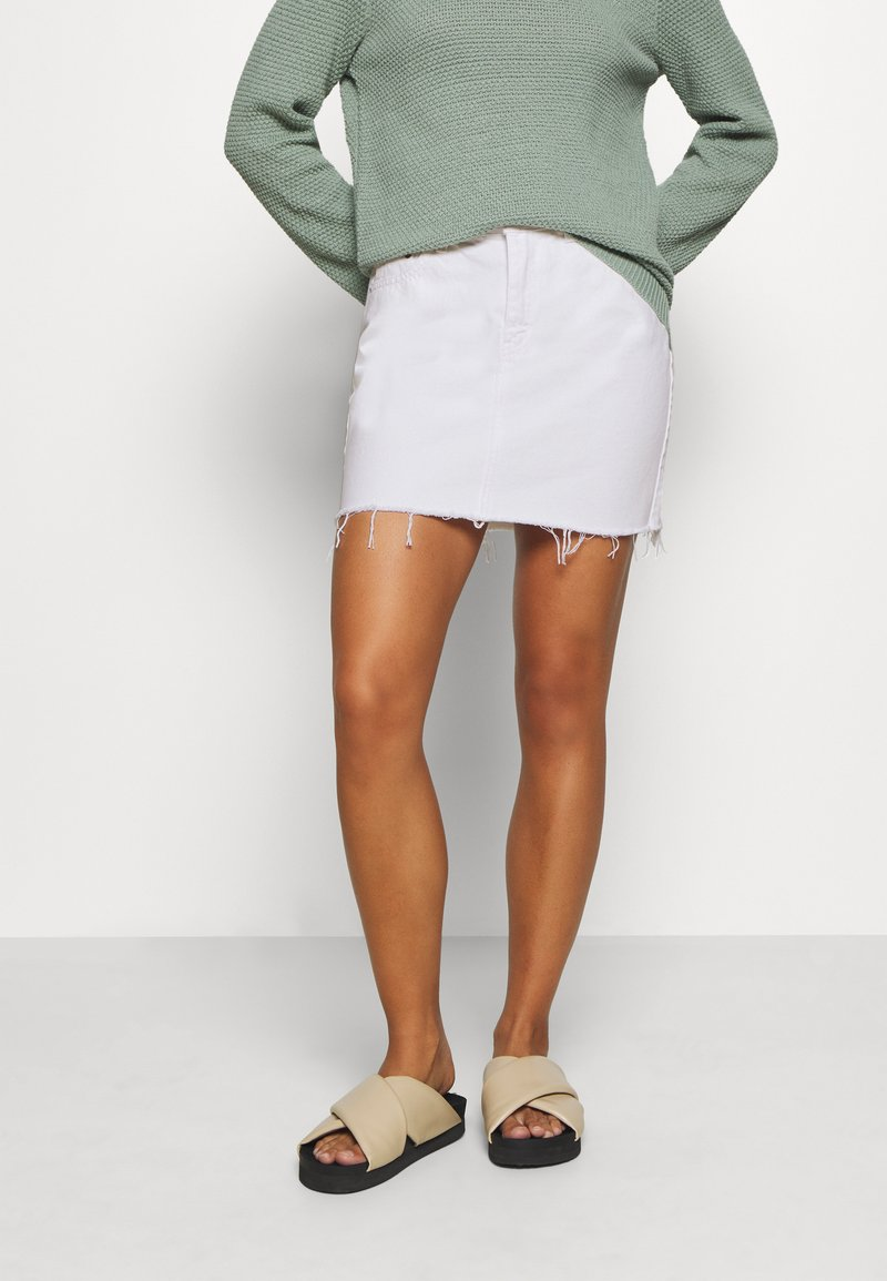 Dr.Denim Petite - MALLORY - Denim skirt - white