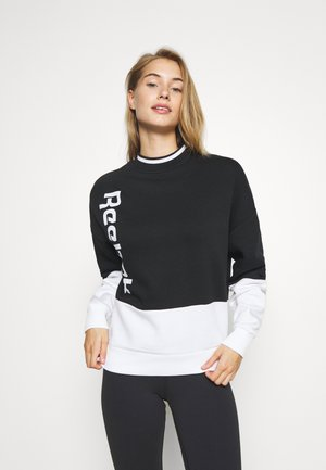 LINEAR LOGO CREW - Sweatshirts - black
