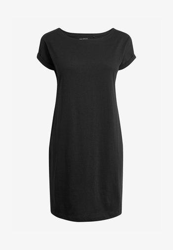 RELAXED CAPPED SLEEVE  - Žerzejové šaty - black