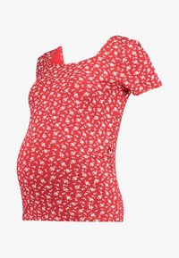 Dorothy Perkins Maternity - SQUARE NECK FLORAL - Printtipaita - red ditsy - 4