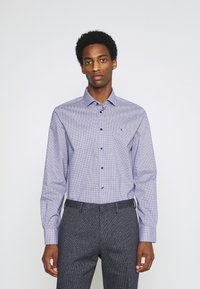 Tommy Hilfiger Tailored - MINI CHECK SLIM FIT - Shirt - navy/white - 0