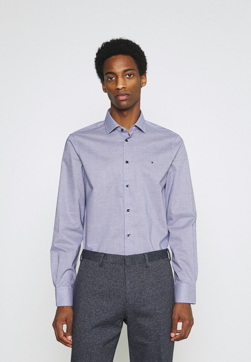 Tommy Hilfiger Tailored - MINI CHECK SLIM FIT - Shirt - navy/white