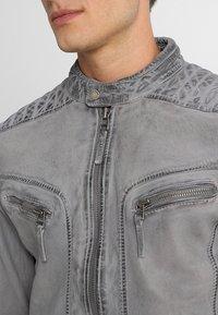 Freaky Nation - BEST BUDDY - Leather jacket - ash - 5