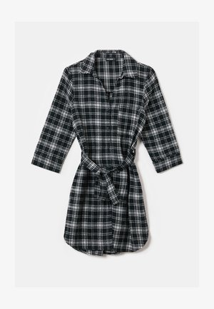 MISSING TITLE - Shirt dress - blkwhi