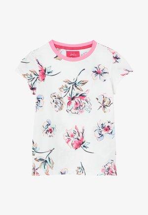 T-shirt print - weiß geblümt