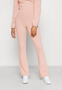 Miss Selfridge - TIE BACK KICKFLARE SET - Trousers - pink - 3