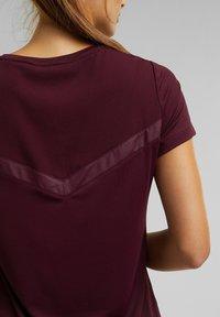 Esprit Sports - Basic T-shirt - bordeaux red - 3
