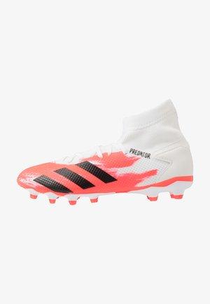 PREDATOR 20.3 MG - Fodboldstøvler m/ faste knobber - footwear white/core black/pop