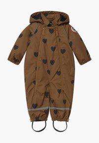 Mini Rodini - ALASKA HEARTS - Lyžařská kombinéza - brown - 0