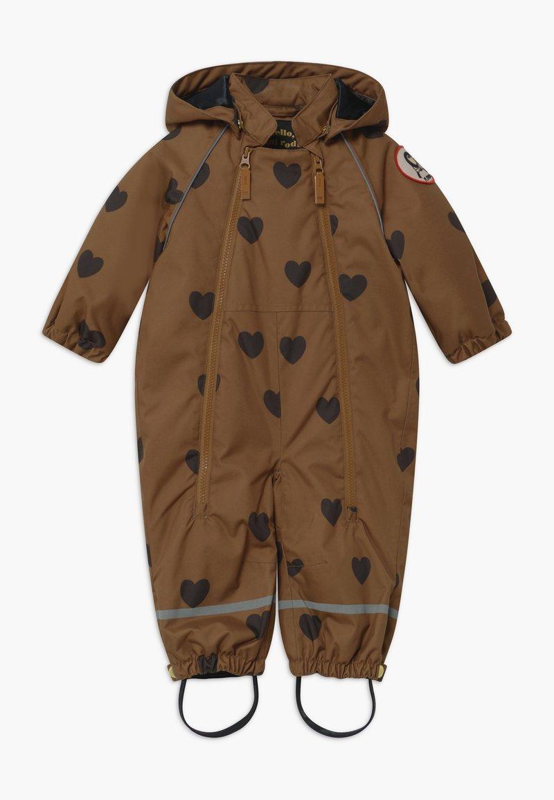 Mini Rodini - ALASKA HEARTS - Lyžařská kombinéza - brown