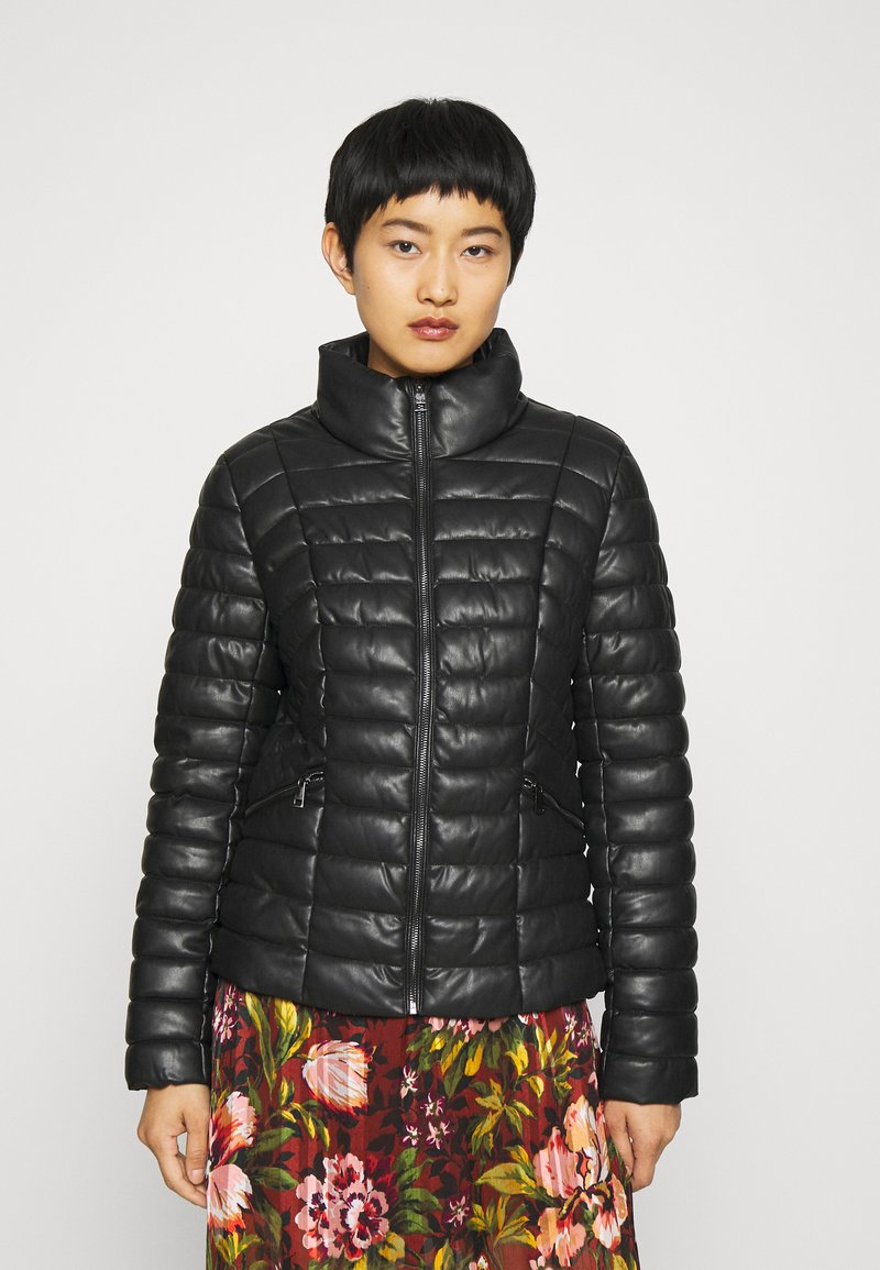 Liu Jo Jeans - IMBOTTITO OVATT CORT - Faux leather jacket - nero