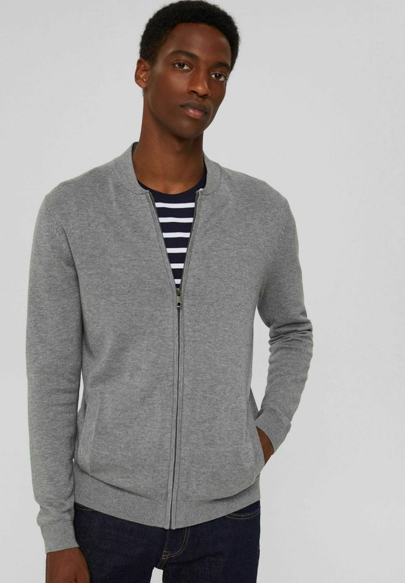 Esprit - PIMA - Cardigan - medium grey