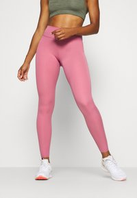 Nike Performance - ONE LUXE - Tights - desert berry/clear - 0