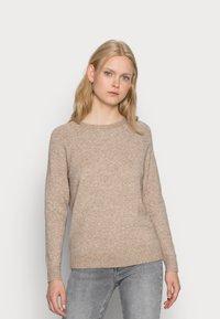 ONLY - LESLY KINGS - Sweter - beige melange - 0