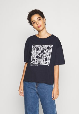 TWOSS LACIVERT - Camiseta estampada - navy