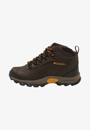 NEWTON RIDGE - Zapatillas de senderismo - cordovan/golden yellow