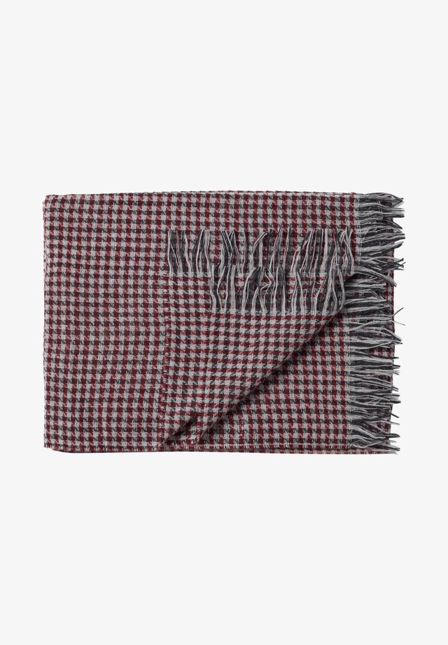 MIT HAHNENTRITTMUSTER - Scarf - rot/rouge