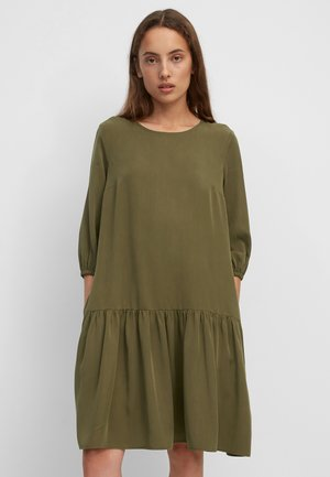 TENCEL - Shirt dress - burnished logs