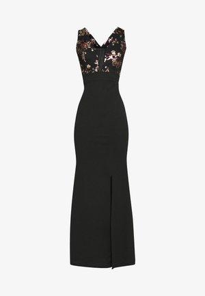 FLORAL MAXI DRESS - Robe de cocktail - black