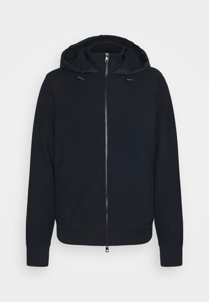 NYLON MIX ZIP HOODIE - Zip-up hoodie - midnight