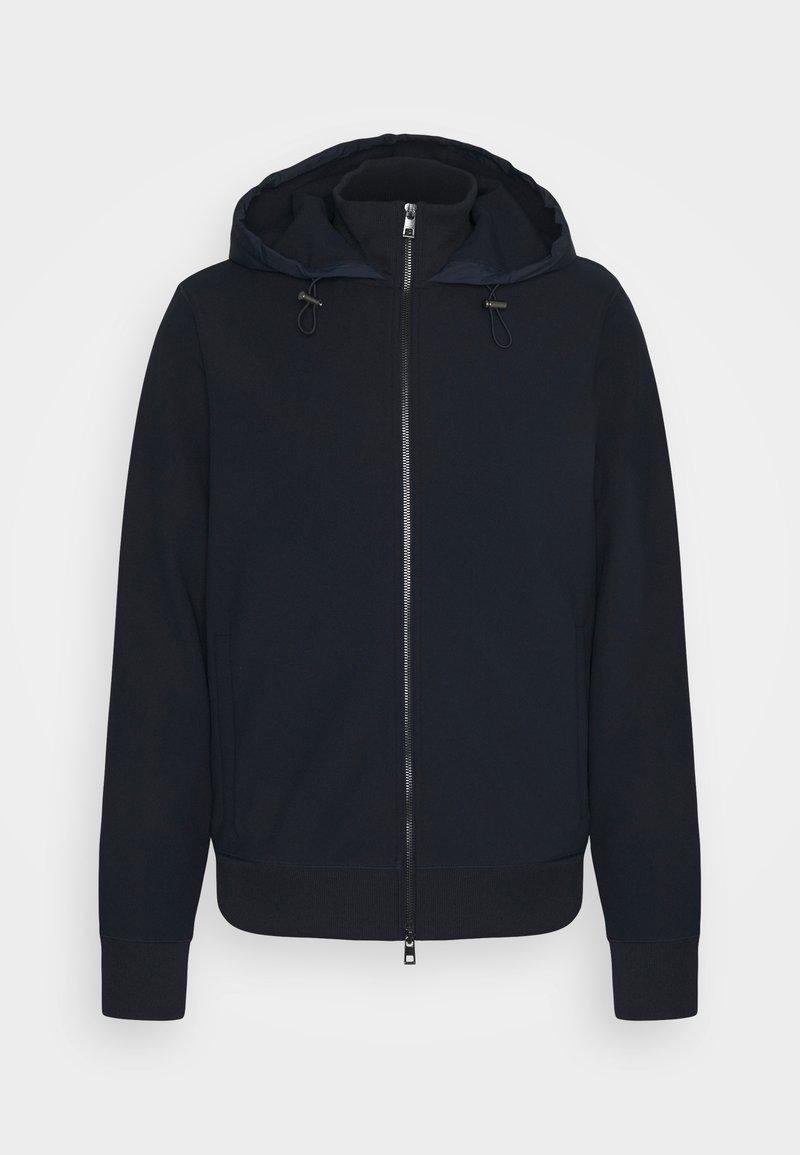 Michael Kors - NYLON MIX ZIP HOODIE - Zip-up hoodie - midnight