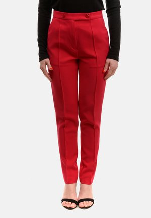 CLINT - Trousers - dark red