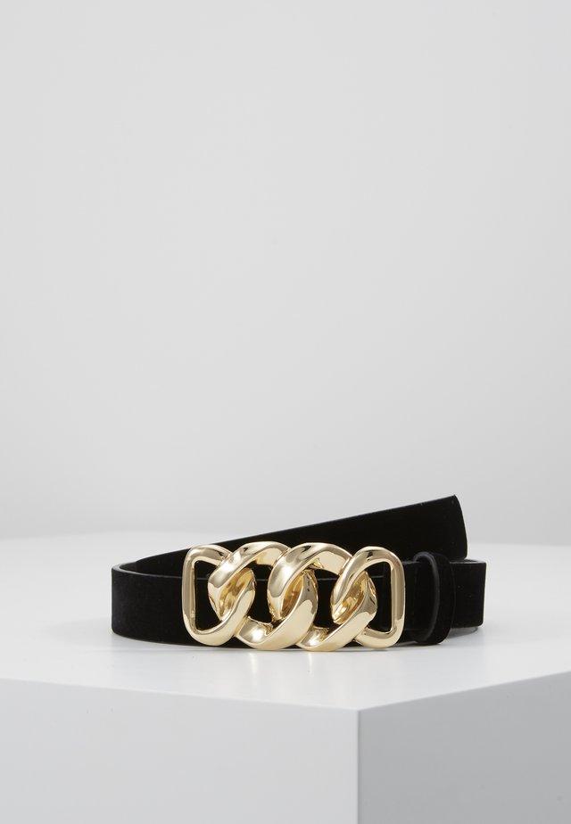 PCCHAIN WAIST BELT  - Cinturón - black/gold-coloured