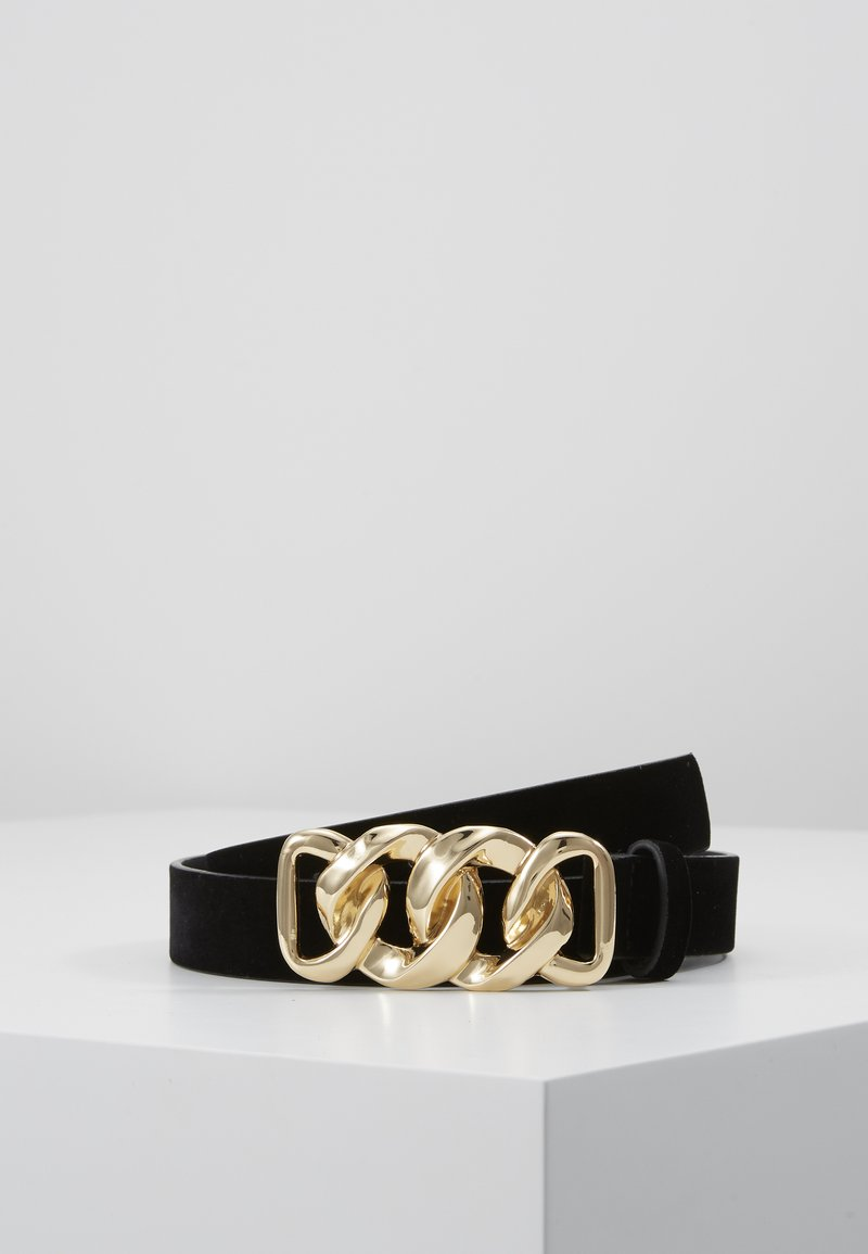 Pieces - PCCHAIN WAIST BELT  - Pásek - black/gold-coloured