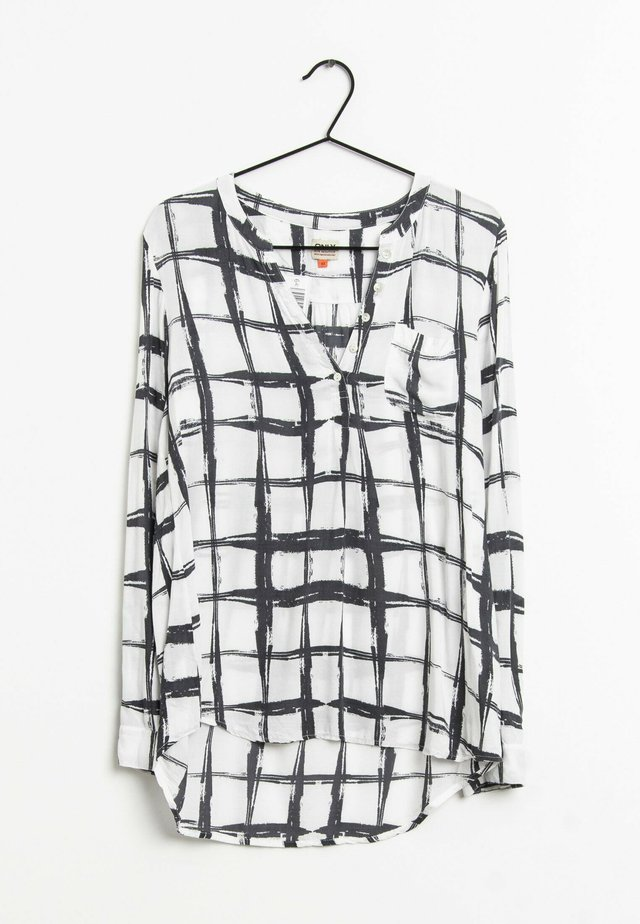 Blouse - white\black