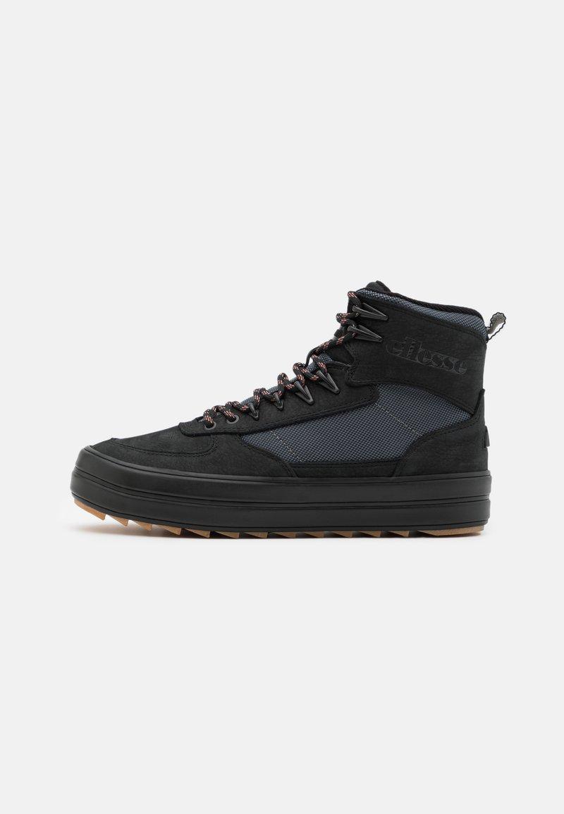 Ellesse - ALZANO - Sneakersy wysokie - black/grey/offwhite