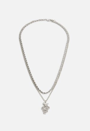 SNAKE TWO ROW NECKLACE 2 PACK - Kaulakoru - silver-coloured