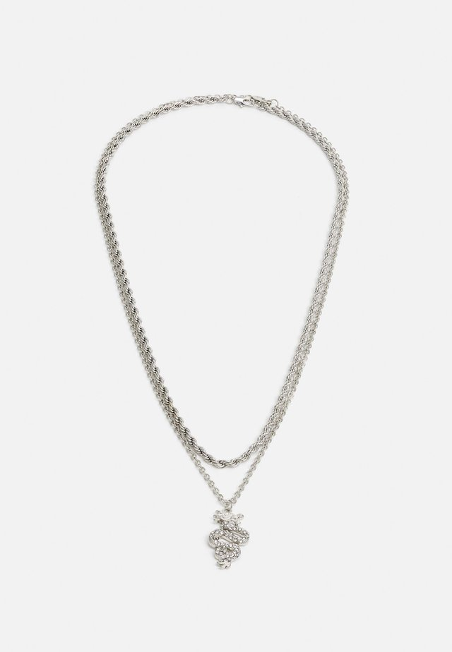 SNAKE TWO ROW NECKLACE 2 PACK - Collar - silver-coloured
