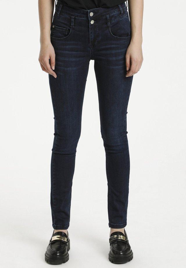 THE FIOLA - Slim fit jeans - dark blue wash