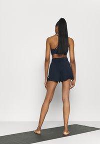 Cotton On Body - DOUBLE LAYER PETAL HEM SHORT - Sports shorts - navy - 2