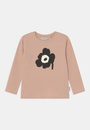 OULI UNIKKO PLACEMENT - Long sleeved top - light peach/black/off white