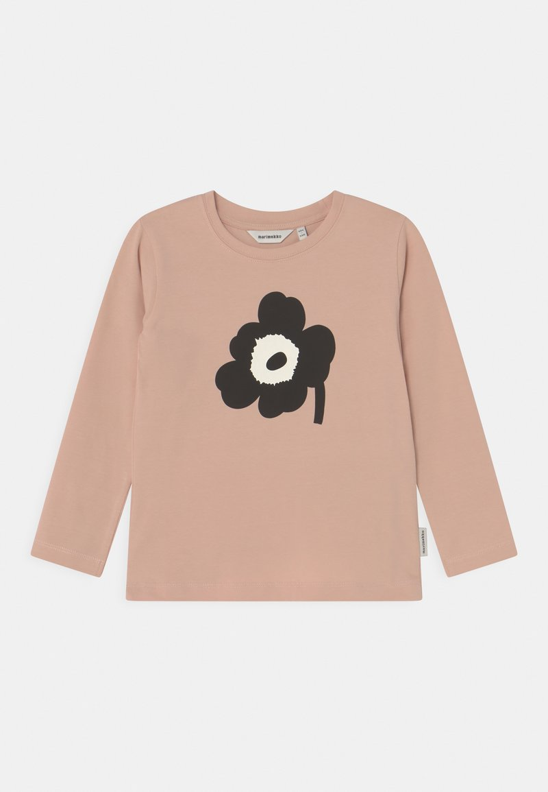 Marimekko - OULI UNIKKO PLACEMENT - Long sleeved top - light peach/black/off white