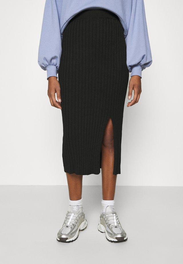 LOA SKIRT - Blyantnederdel / pencil skirts - black solid
