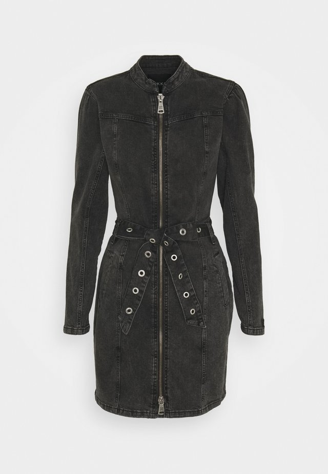 CAILEY DRESS - Denim dress - black