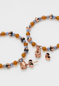 Konplott - BEAT OF THE BEADS - Øreringe - blue/brown - 2