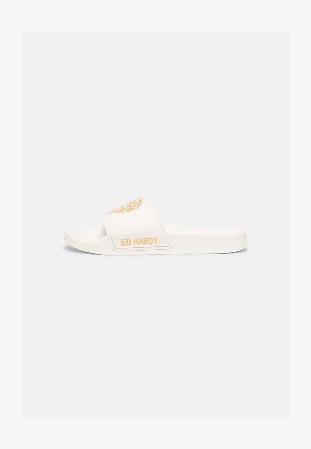 SLIDERS - Sandaler - white/gold