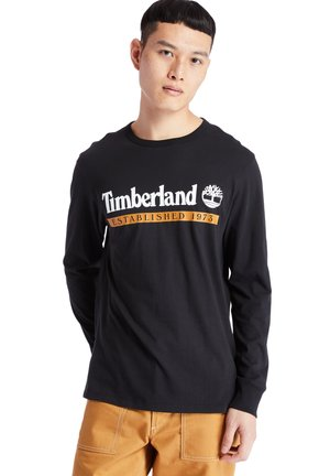 LS ESTABLISHED 1973 - Langærmede T-shirts - black-wheat boot