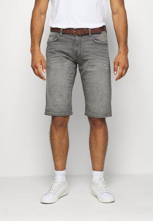 Jeansshorts - grey light wash