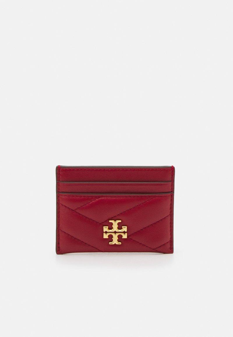 Tory Burch - KIRA CHEVRON CARD CASE - Wallet - redstone