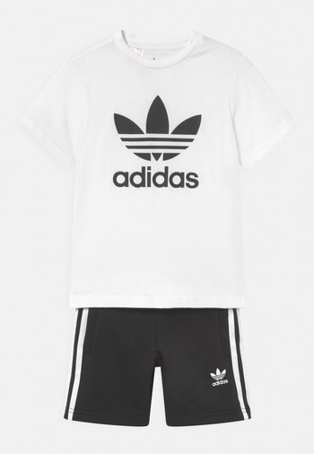 SET UNISEX - Print T-shirt - white/black