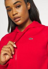 Lacoste Sport - HOOD JACKET - Zip-up sweatshirt - rouge - 5