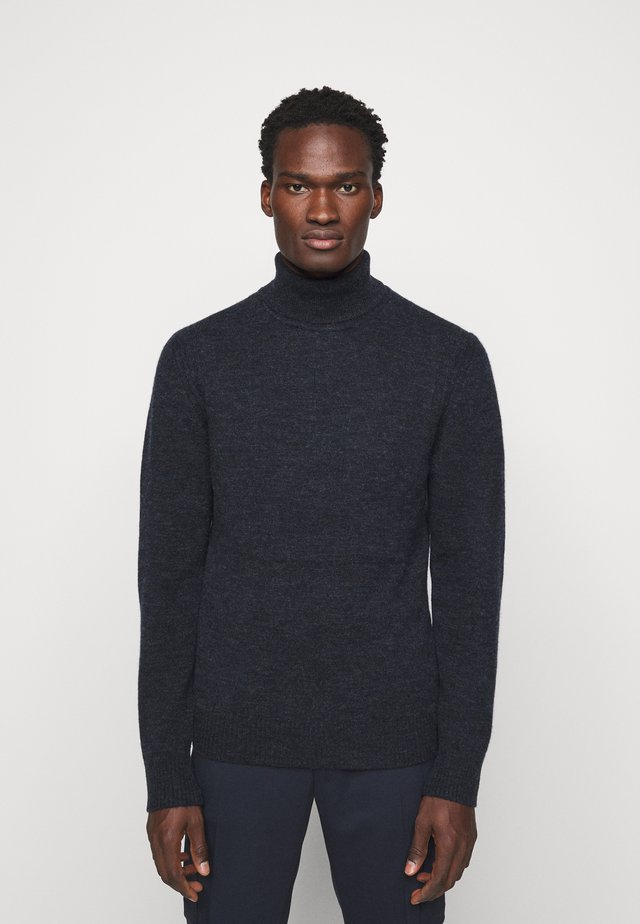 IVO TURTLE NECK SWEATER - Strikkegenser - navy melange