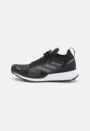 TERREX TWO PARLEY TRAIL RUNNING - Hiking shoes - core black/footwear white/solar yellow
