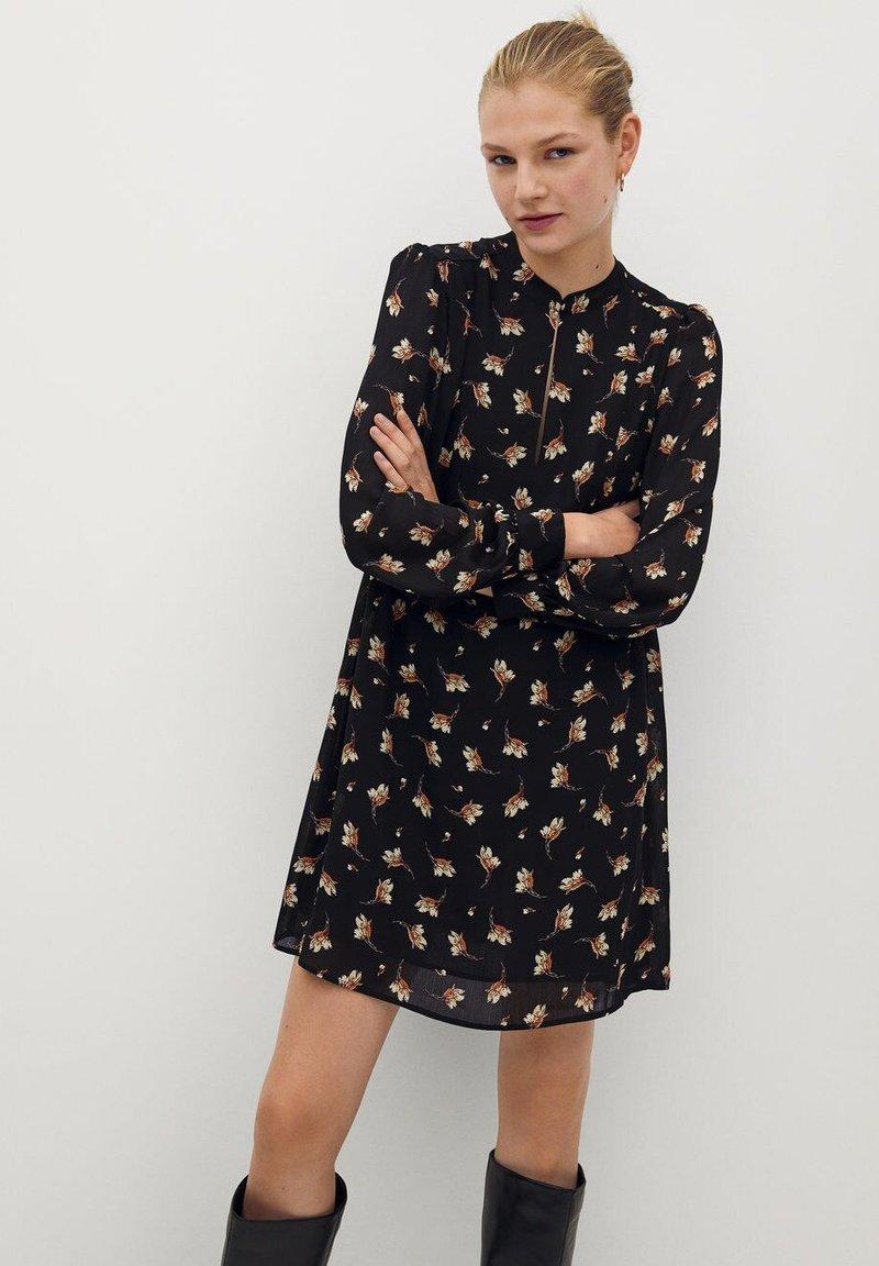 Mango - OSLO - Robe d'été - noir