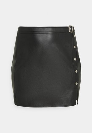 SPLIT MINI SKIRT - Mini skirt - black
