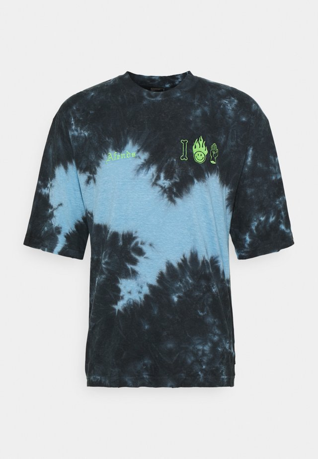 COOL DEATH OVERSIZED TEE TIE DYE UNISEX - T-shirt con stampa - black/blue